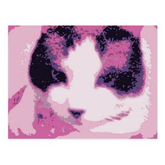 gatito arenoso de la raqueta postales