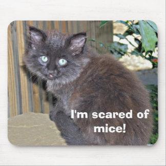 Gatito asustado de ratones tapete de raton