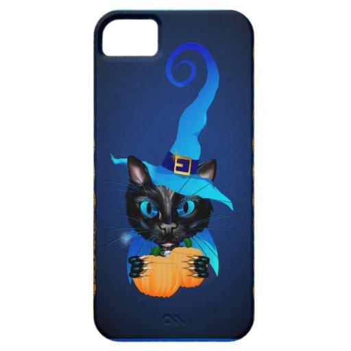 Gatito azul de la bruja iPhone 5 Case-Mate cárcasa