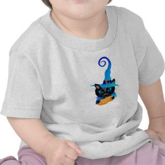 Gatito azul de la bruja camiseta