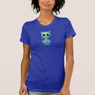 Gatito azul del azúcar del zombi camiseta
