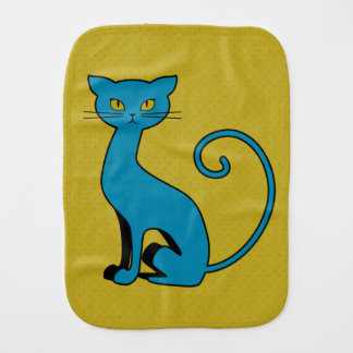 Gatito azul del dibujo animado - paño del Burp Paños Para Bebé