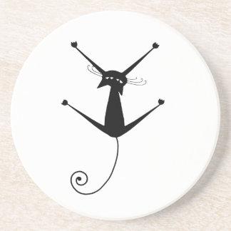 Gatito banal negro 10 posavasos personalizados