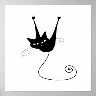 Gatito banal negro 1 póster