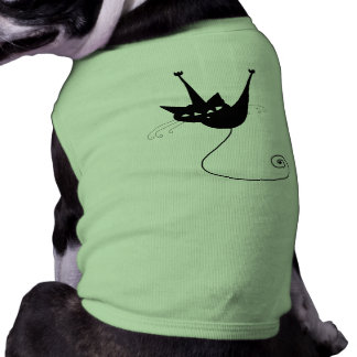 Gatito banal negro 1 camisetas de mascota