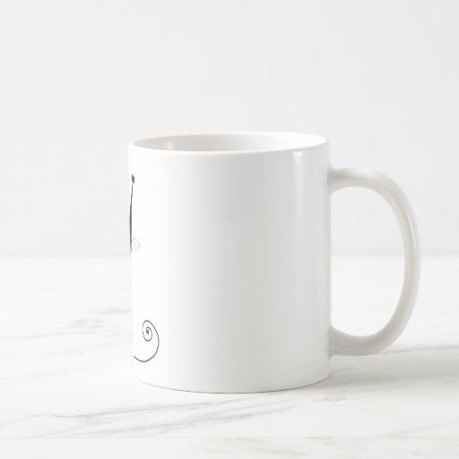 Gatito banal negro 1 taza de café