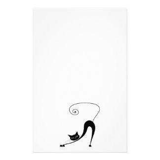 Gatito banal negro 2 papeleria personalizada