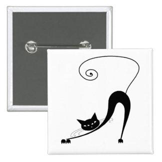 Gatito banal negro 2 pins