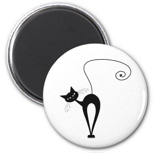 Gatito banal negro 3 imanes de nevera