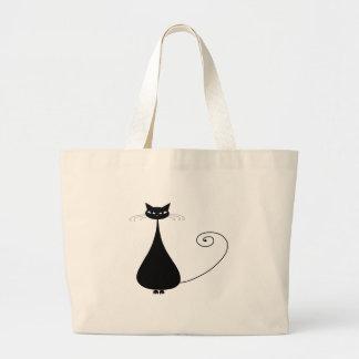 Gatito banal negro 4 bolsas de mano