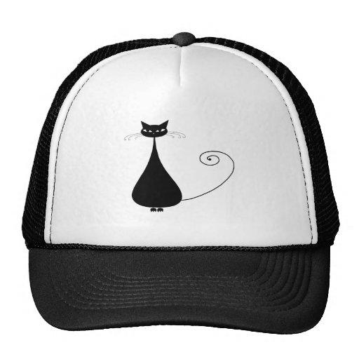 Gatito banal negro 4 gorros bordados