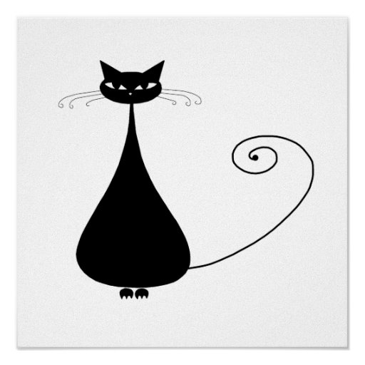 Gatito banal negro 4 posters