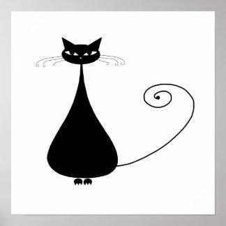 Gatito banal negro 4 poster