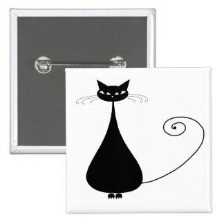 Gatito banal negro 4 pins