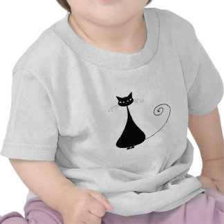 Gatito banal negro 4 camiseta