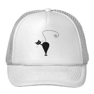 Gatito banal negro 5 gorra