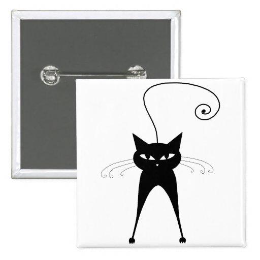 Gatito banal negro 6 pins