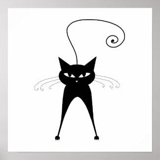 Gatito banal negro 6 póster