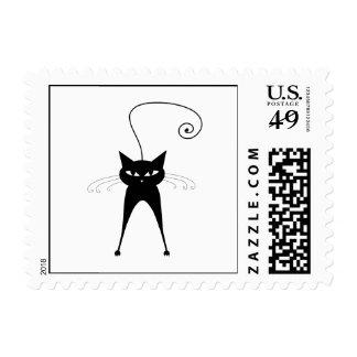 Gatito banal negro 6 sellos postales