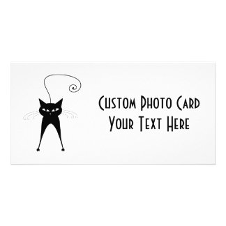 Gatito banal negro 6 tarjeta fotográfica