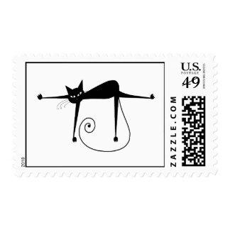 Gatito banal negro 8 sello