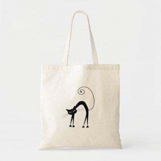 Gatito banal negro 9 bolsa de mano