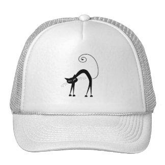 Gatito banal negro 9 gorros bordados
