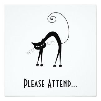 """Gatito banal negro 9 invitación 5.25"""" x 5.25"""""""