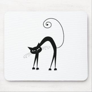 Gatito banal negro 9 mouse pad