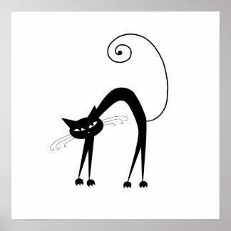 Gatito banal negro 9 impresiones
