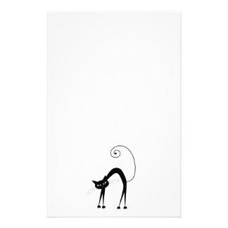 Gatito banal negro 9 papelería