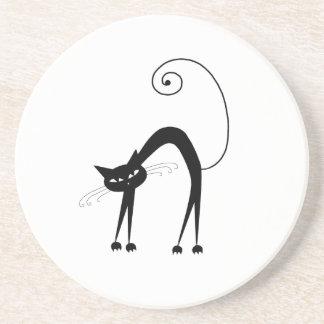 Gatito banal negro 9 posavasos manualidades