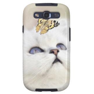 Gatito blanco lindo galaxy SIII cárcasas