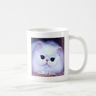 Gatito blanco persa del gatito del gato tazas