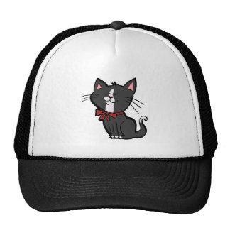 Gatito blanco y negro lindo gorra