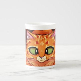 Gatito bonito bizco taza de porcelana