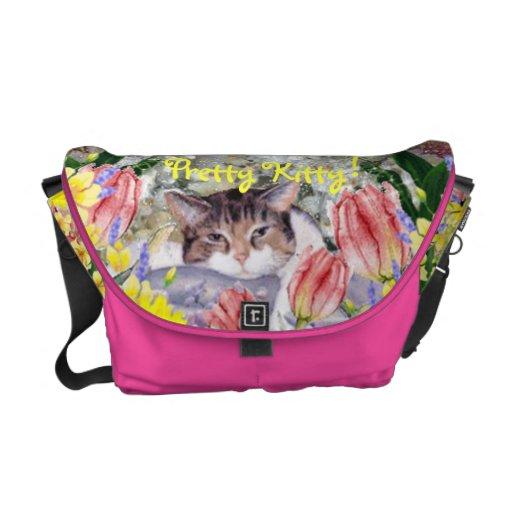 Gatito bonito bolsas messenger