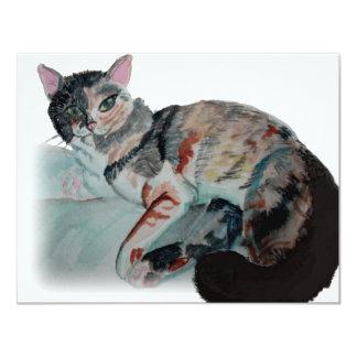 """gatito bonito invitación 4.25"""" x 5.5"""""""