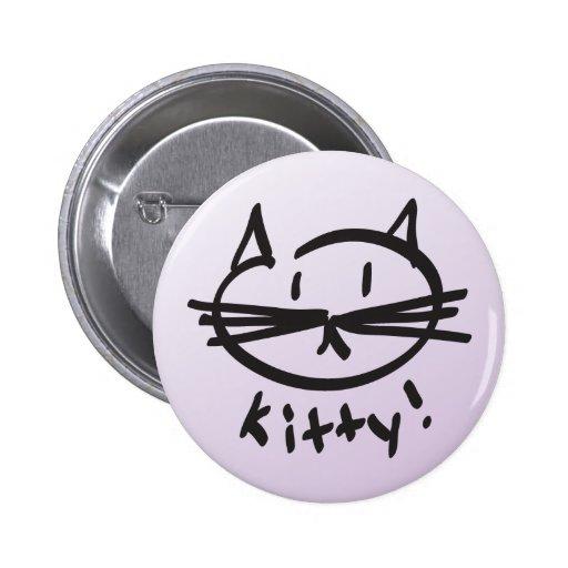 ¡Gatito! botón Pin