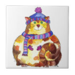 Gatito caliente y mimoso del gato del gatito azulejo ceramica