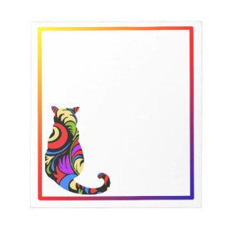 Gatito colorido bloc de papel