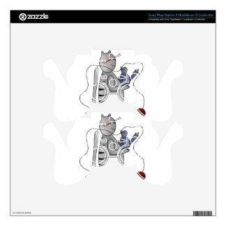 gatito con el pájaro mando PS3 skins