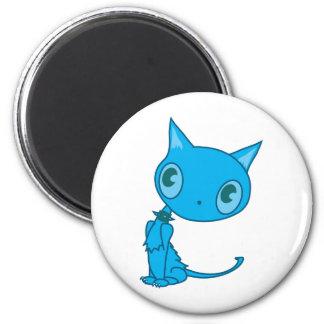 gatito contemplativo imán de nevera