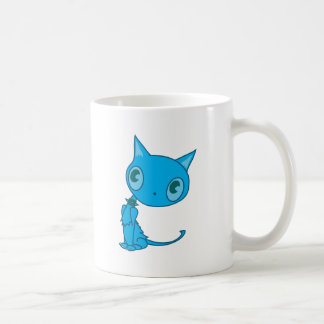 gatito contemplativo taza de café