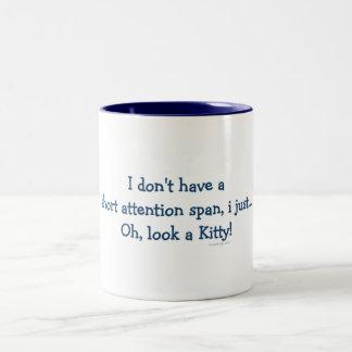 Gatito corto de la capacidad de concentración tazas de café