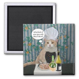Gatito de Bubba del cocinero Imán De Nevera