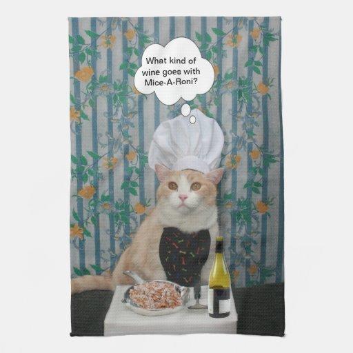 Gatito de Bubba del cocinero Toalla