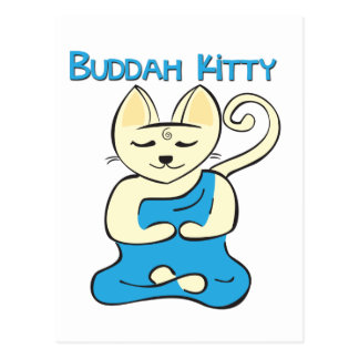 Gatito de Buda Tarjeta Postal