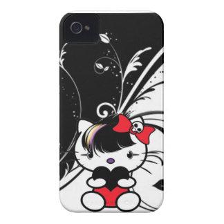 Gatito de Emo iPhone 4 Cárcasa