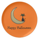 Gatito de Halloween Platos